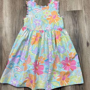 Gymboree Floral Button Criss Cross Open Back Dress